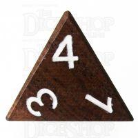 TDSO Ebony Wooden D4 Dice - Inked