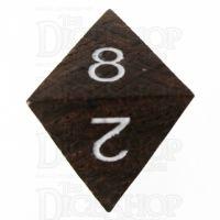 TDSO Ebony Wooden D8 Dice - Inked