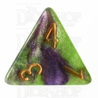 TDSO Galaxy Shimmer Royal Viper D4 Dice