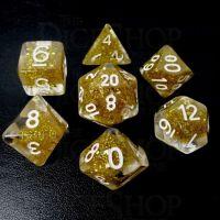 TDSO Confetti Gold Glitter 7 Dice Polyset