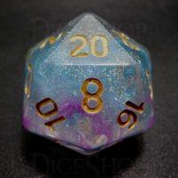 TDSO Sky Burst Blue & Purple D20 Dice
