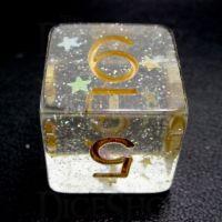 TDSO Confetti Circus Star D6 Dice