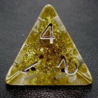TDSO Confetti Gold Glitter D4 Dice