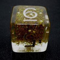 TDSO Confetti Gold Glitter D6 Dice