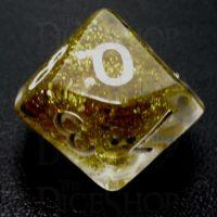 TDSO Confetti Gold Glitter D10 Dice