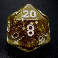 TDSO Confetti Gold Glitter D20 Dice