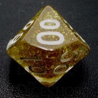 TDSO Confetti Gold Glitter Percentile Dice
