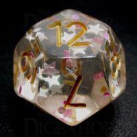 TDSO Confetti Princess Star D12 Dice