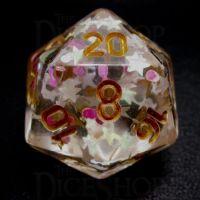 TDSO Confetti Princess Star D20 Dice