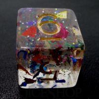 TDSO Confetti Rainbow & Gold D6 Dice
