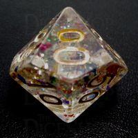 TDSO Confetti Rainbow & Gold Percentile Dice