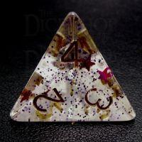 TDSO Confetti Royal Star D4 Dice
