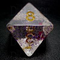 TDSO Confetti Royal Star D8 Dice
