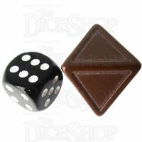 CLEARANCE D&G Opaque Blank Brown Indented 19mm D8 Dice - For Stickers SECONDS