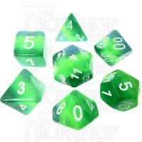 TDSO Layer Transparent Green 7 Dice Polyset