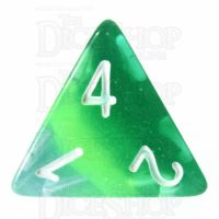 TDSO Layer Transparent Green D4 Dice