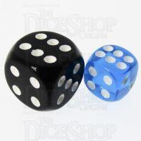 TDSO Bright Gem Sapphire 12mm D6 Spot Dice