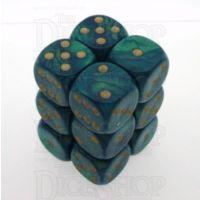 D&G Interferenz Green 12 x D6 Dice Set