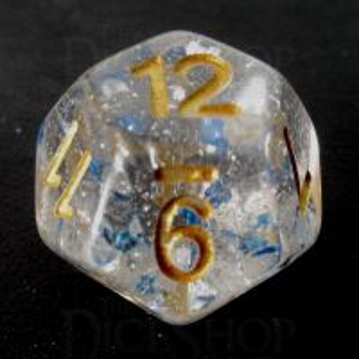 TDSO Metallic Flakes Sapphire D12 Dice