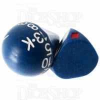Tessellations Opaque Blue Roll A Card - Playing Card Dice