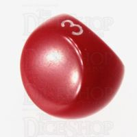 Tessellations Opaque Red D3 Dice