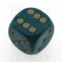 D&G Interferenz Green 15mm D6 Spot Dice