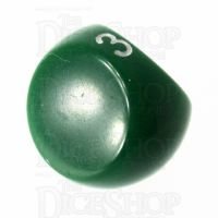 Tessellations Opaque Green D3 Dice