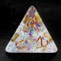 TDSO Confetti Twilight Star D4 Dice