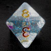 TDSO Confetti Twilight Star D8 Dice