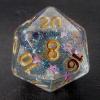 TDSO Confetti Twilight Star D20 Dice