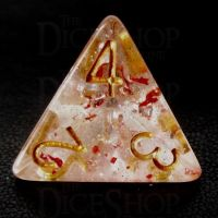 TDSO Metallic Flakes Ruby D4 Dice