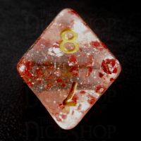 TDSO Metallic Flakes Ruby D8 Dice