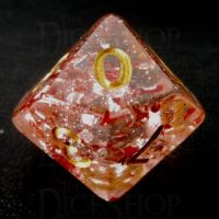 TDSO Metallic Flakes Ruby D10 Dice