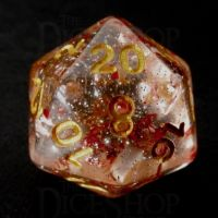 TDSO Metallic Flakes Ruby D20 Dice