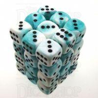 Chessex Gemini Teal & White 36 x D6 Dice Set