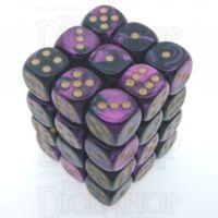 Chessex Gemini Black & Purple 36 x D6 Dice Set