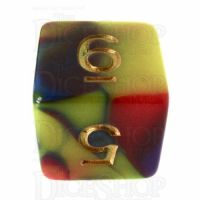 TDSO Rainbow Fury D6 Dice LTD EDITION