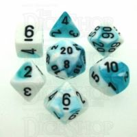 Chessex Gemini Teal & White 7 Dice Polyset