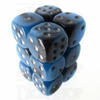 TDSO Duel Sapphire & Black Glow in the Dark 12 x D6 Dice Set