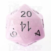 TDSO Duel Amethyst & White Glow in the Dark 16mm D20 Dice