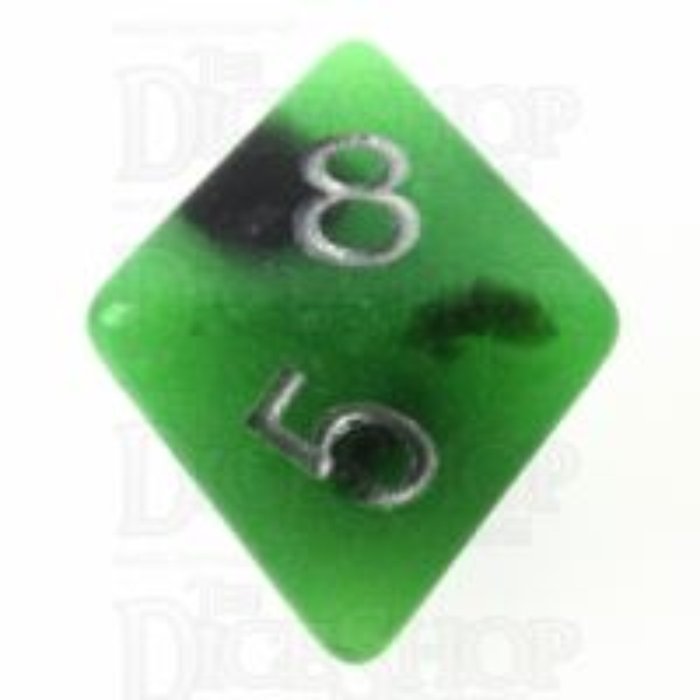 TDSO Duel Jade & Black Glow in the Dark 16mm D8 Dice