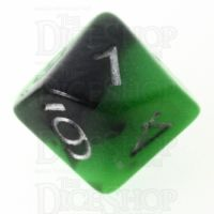 TDSO Duel Jade & Black Glow in the Dark 16mm D10 Dice