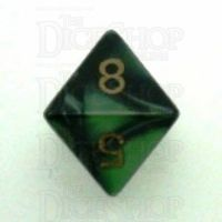 Chessex Gemini Black & Green D8 Dice