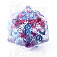 TDSO Confetti Cerise Star D20 Dice