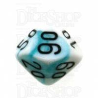 Chessex Gemini Teal & White Percentile Dice