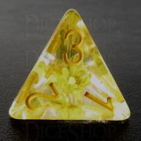 TDSO Encapsulated Flower Yellow D4 Dice