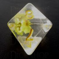 TDSO Encapsulated Flower Yellow D8 Dice