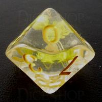 TDSO Encapsulated Flower Yellow D10 Dice