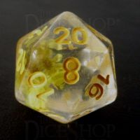TDSO Encapsulated Flower Yellow D20 Dice
