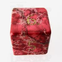 TDSO Imperial Stone Red with Engraved Numbers 16mm Precious Gem D6 Dice